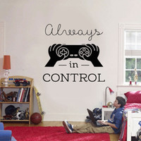Wholesale cartoon video game controller for sale - Group buy Aways In Control Quotes Game Video Games Wall Sticker Controller Vinyl Home Decor Boys Room Playroom Teens Bedroom Decals
