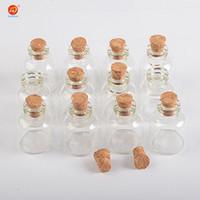 Wholesale cork storage bottle resale online - 100 units ml Mini Transparent Glass Cork Bottles Glass Vials Jars Empty Storage Wishing Bottles Decorative Diy