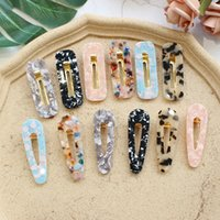 ingrosso accessorio giapponese dei capelli-Japan Women Acetic Acid Hair Clips Forcelle Leopard Print Waterdrop Hairclip Barrettes Girls Hairgrips Accessori per capelli Hairband