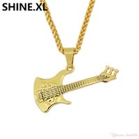 Wholesale stainless steel guitar slide for sale - Group buy Alloy Plating Rock Guitar Necklace Copper Titanium Stainless Steel Music Guitar Pendant Necklace for Men Jewelry