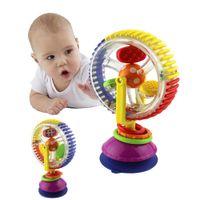 baby saugt großhandel-Baby-Geklapper Tricolor Multi-Touch-Rotating Riesenrad Suckers Spielzeug 0-36 Monate Newborns Kreative Educational Baby-Spielzeug