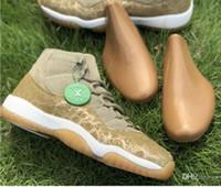 ingrosso scarpe da basket libere libere-11 11s Olive Lux Sail-Gum Light Bro WMNS Scarpe da pallacanestro Donne Vere sneakers sportive in fibra di carbonio con scatola stivali autentici Spedizione gratuita