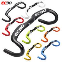 рулевые рульки оптовых-2018 EC90 Новый полный углеродного волокна дорожный велосипед гоночный руль ручка велосипеда изгиб велосипеда ручка 31,8 * 400 420 440 мм 7 цветов