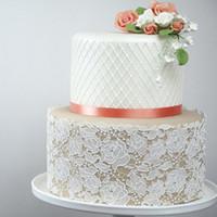 fondant de rosas al por mayor-Rosa molde de silicona estera de encaje Fondant molde Cake Decorating Tool Chocolate, Gumpastes molde, Sugarcraft accesorios de cocina