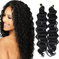 Wholesale water wave hair freetress resale online - Synthetic Deep Wave Hair Extensions Ombre Crochet Braids for Women Freetress Water Wave Synthetic Braiding Curly Hair Bundles b