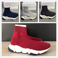 Wholesale 2019 Luxury Brand Speed Runner Socks Shoes With Box Top Quality Triple Black Oreo Red Men Women Casual Shoes Sport US