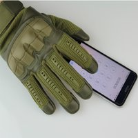 taktik eldivenler toptan satış-Dokunmatik Ekran Taktik Eldiven Ordu Paintball Çekim Savaş Sert Knuckle Tam Parmak Eldiven