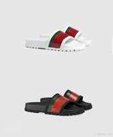Wholesale mens white moccasins resale online - 2020 Newest Slippers fashion Authentic slide Floral brocade Rubber mens slippers Gear bottoms striped woven Beach causal Sandal