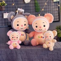 ratón kawaii al por mayor-Ratón Peluche Animales de dibujos animados Hamster Peluches Peluches Kawaii Peluches Muñeca Juguetes para niños Regalos de Navidad KKA7515