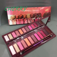 Wholesale warm eyeshadow resale online - NEW Brand Warm earth colors eyeshadow pallete color matte eye shadow nude matte eyeshadow Natural heat CHERRY Nudes Eye Colour Palette