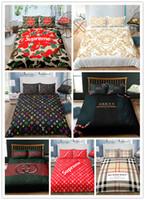 camas queen king venda por atacado-Conjunto de cama de moda capa de edredão conjunto de impressão do logotipo gêmeo completa rainha king size 2/3 pcs
