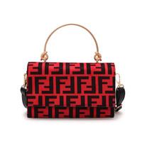 Wholesale ladies backpacks handbags resale online - Women F Letters PU Handbag Fashion Protable One Shoulder Bag Trendy Messenger Bag Lady Zipper Tote Wallet Purse Travel Storage Bags New C483