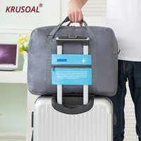 Wholesale luggage clothes resale online - Large Capacity Travel storage bag aircraft bag Handbags collapsible Clothes storage waterproof travel shoulder luggage