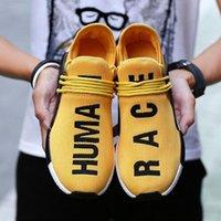 zapatillas de deporte cómodas al por mayor-NMD Human Race Hombres Trail Zapatos para correr Pharrell Williams HU Pk Runner Cómodo Moda Luz Verano Hombres Mujeres Zapatillas Con Caja