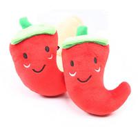 фрукты с начинкой оптовых-Животные с арбузом Фаршированные плюшевые игрушки Squeaker Скрипучий плюш Звук Фрукты Овощи Арбуз Звезды Кормление Морковь Банан