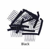 ingrosso le protezioni della parrucca di qualità del merletto-Massima qualità 7 Theeth Metal Wigs Combs per parrucca Caps Wig Clips per capelli Extension Strong Black Lace Hair Comb