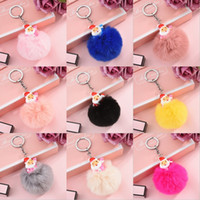 Wholesale car mobile phone bag holder online – 2020 Hot Sale Women Bag Key Ring Christmas Claus Ball Key Holder Pom Pom Keychain Mobile Phone Key Chain Car Fashion Pendant M657A