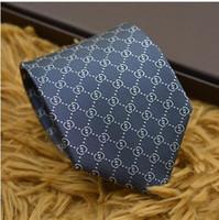 ingrosso legami color lavanda-L'ultimo tie di alta qualità 100% seta tinta monogramma cravatta camicia da uomo legame cravatta in seta moda con scatola di imballaggio