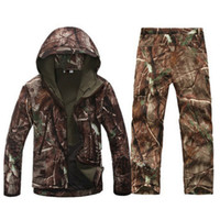 Wholesale army camo gear for sale - Group buy Tactical Gear Softshell Camouflage Jacket Men Army Waterproof Warm Camo Clothes Windbreaker Fleece Coat Military Jacket Armband Y191104
