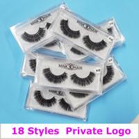 3d logo toptan satış-3D Vizon Kirpikler Bireysel Kirpik Uzantıları 3D Vizon Kirpikler Özel Logo Özel Göz kirpik Ambalaj Kutusu Yanlış Vizon Göz Kirpik Paketi Kutuları
