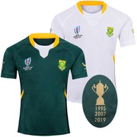 Wholesale 2019 RWC South Africa years rugby Jersey shirt South African national rugby league jerseys shirts th Anniversary jersey s xl