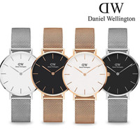 relojes de acero para niñas al por mayor-Nueva moda Chicas tira de acero Daniel relojes 32mm relojes de las mujeres relojes de 40mm relojes de cuarzo Feminino Montre Femme Relogio Relojes de pulsera