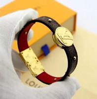 ingrosso modelli dei contenitori di monili-Braccialetti di cuoio di modo Louis per gli uomini Braccialetto di cuoio del braccialetto di cuoio del modello del braccialetto del progettista della donna con la scatola