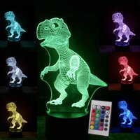 Wholesale Remote Touch Control D LED Night Light Dinosaur series patterns Change LED Table Desk Lamp Kids Xmas Gift Home decoration back base