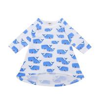 bebek elbiseleri resimleri toptan satış-Kız Elbise Karikatür Balina Bebek Baskı Etek Çocuk Giyim Uzun Kollu Çocuk Etek Bebek Çocuk Karikatür Resimleri 11