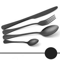ingrosso set di cibi eco friendly-4 pezzi / set Insiemi Servizio posate in acciaio inox Cena Set Coltello occidentale forchetta cucchiaino Cena cucchiaio da tavola tavola Posate