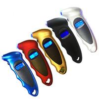 lcd bluetooth toptan satış-LCD Dijital Lastik Basınç Göstergesi Tester Lastik Hava Basıncı Sensörü TPMS Pnömatik Araçları Araba Motosiklet Bisiklet için HHA71
