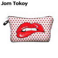 милые печатные косметические сумки оптовых-Высокое качество печати сумки Косметика Сумки с многоцветным узором Симпатичные Косметика Pouchs для путешествий дамы мешка женщин Cosmetic Bag 4