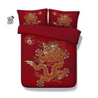 Wholesale oriental bedding for sale - Group buy 150x200CM D Oriental dragon print Duvet Cover with pillowcase Bedding Set Microfiber Quilt Cover Zipper Closure NO Comforter