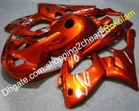 yamaha thundercat 1996 carenados al por mayor-97 98 99 00 01 02 03 04 05 06 07 Carenado YZF-600R Para Yamaha YZF600R Carenado Thundercat 1996-2007 Carenados del kit de cuerpo naranja