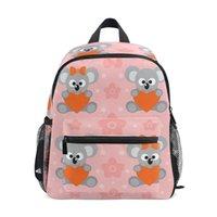 mochila de oso rosa al por mayor-2019 New Girl fashion school bag Pink Bear print pattern ALAZA Mochila casual para mujeres adolescentes mochilas escolares bolsos para niñas