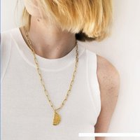 Wholesale western jewelry resale online - Silvology Sterling Silver Maria Disintegration Long Necklace Gold Irregular Design INS Western Pendant Necklace Fine Jewelry