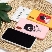 handytaschen für mädchen großhandel-Gemalter Telefon-Kasten-Karikatur-Mädchen für Iphone Xs maximales Xr ganz einschließlich weicher Handy-Kasten für Iphone 6 7 8 X Plus