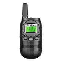 transceptor 3km al por mayor-Baofeng T6 Mini Walkie Talkie UHF 400-470 Mhz Radio PMR Transceptor FM Radio bidireccional Carga USB