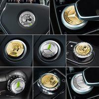 apfellenkrad großhandel-Mercedes A B C E Klasse W204 W205 W213 W212 GLC GLA CLA Motorabdeckung Lenkradknopf Taste Amg Apple-Innenverkleidung Aufkleber