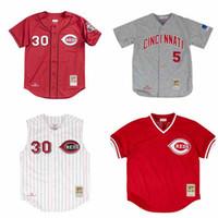 f015ca21a Wholesale mitchell ness jerseys online - Men s Reds Ken Griffey Jr Jersey  Barry Larkin Johnny