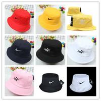 Wholesale folding cowboy hat for sale - Group buy Top Sale AD Letter Bucket Hat For Mens Womens Foldable Caps Fisherman Beach Sun Visor Sale Folding Man casquette Bowler Cap