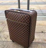 чемоданы высокого качества оптовых-Роллинг багажа модельер высокого качества четыре колеса Сумка-тележка мужчины дорожный чемодан 20