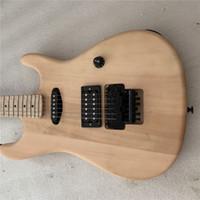 kostenlose gitarren-kits großhandel-Krame 5150 Unvollendete E-Gitarre Basswood Body Guitar Kits FR Brige mit Bar E-Gitarre versandkostenfrei