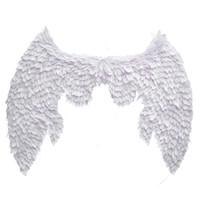 Wholesale large white wings online – design High quality large white angel wings creative pros for Parent child Art Photography nice wedding Birthday party deco props