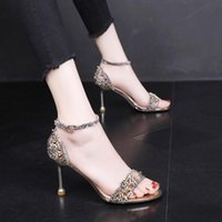 Wholesale women diamond open toe heels for sale - Group buy Women brand Pumps Sandals Open Toes Colour diamond Stiletto cm Shallow mouth fashion Buckle Strap Prom Party Shoes Summer