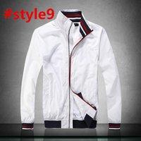 tendências da moda masculina venda por atacado-EUA marca de moda americana MEN designer de tendência jaqueta curta Zipper collar windproof lazer ao ar livre masculino primavera outono fina jaqueta esportiva