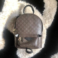 vintage çantalar el çantaları toptan satış-Kadınların deri moda geri paketi omuz çantası çanta presbiyopik palmiye bahar Mini sırt çantası messenger çanta telefon cüzdanını Tasarımcı sırt çantası