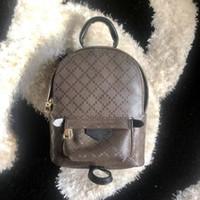 mochila de cuero vintage al por mayor-mochila de diseño para el bolso de la bolsa posterior de la moda las mujeres de cuero paquete del hombro presbicia primavera palma de mini mochila del bolso del mensajero de teléfono