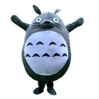 vestido de totoro al por mayor-Totoro traje de la mascota gato caliente mi vecino gato de alta calidad disfraces disfraces trajes encantadores tamaño adulto