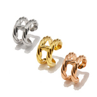 Wholesale women gold rings price resale online - Top quality Brand Titanium steel letter H color silver rose gold Arete for women summer Jewelry factory price Designer fashion ring